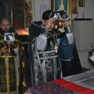 Литургия Преждеосвященных Даров в Свято-Ильинском храме г.Саки