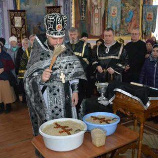 Освящение колива в Свято-Ильинском храме г.Саки