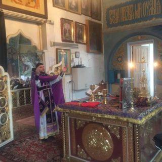 Богослужение в Неделю 2-ю Великого поста в Свято-Ильинском храме г. Саки Крым