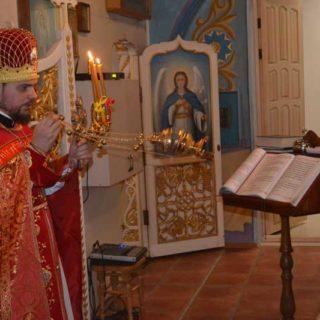 Пасхальное богослужение в Свято-Ильинском храме г. Саки
