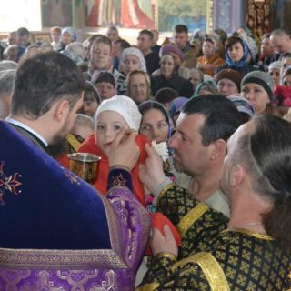 Великий Четверг Страстной седмицы в Свято-Ильинском храме г.Саки Крым