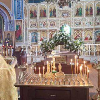 Панихида в Свято-Ильинском храме г.Саки, о невинно погибших в страшной трагедии в Керчи