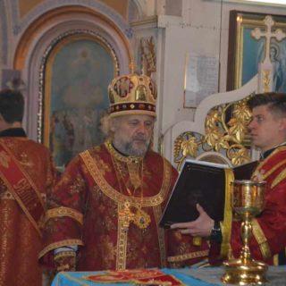 Архиерейская Божественная литургия в Свято-Ильинском храме г. Саки в день памяти вмц. Екатерины