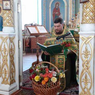 Богослужение в день Святой Троицы в Свято-Ильинском храме г.Саки